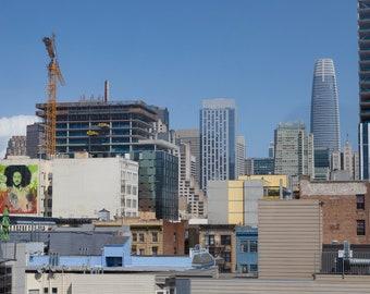 Roof Deck Skyline — Photograph of Politics & Change, Archival Print