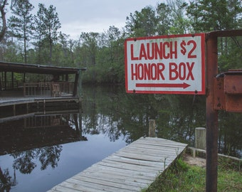 Honor Box — Photograph of a Two Dollar Access Fee, Archival Print