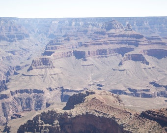 There's Plenty of Room at the Bottom — Photograph of a Grand Chasm & Horizon, Archival Print