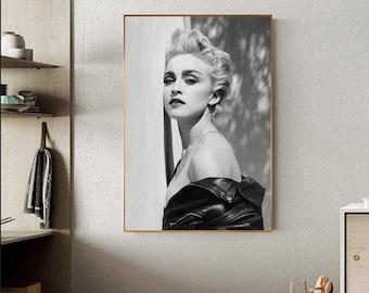 Madonna Vogue Canvas Stretched Wall Art Poster Print Album Art Music Singer 90s