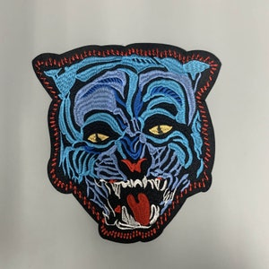 Native American Embroidery Wild Animal Patch Large Back Patch Large Wolf Patch 2 Colors Lupine Embroidery