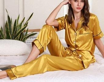 Silk pajamas | Etsy