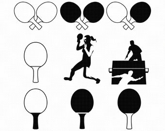 Table Tennis Clipart Etsy