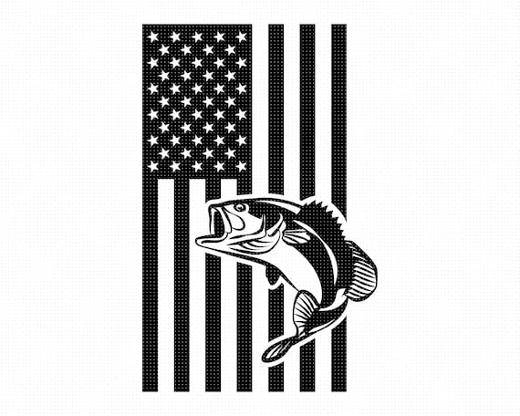 Download American Flag Fish Svg Fishing Clipart Bass Fishing Png Etsy