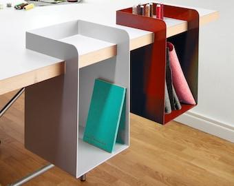 Desk storage, hanging system, furniture, design object, ele.Box, wall shelf office accessory