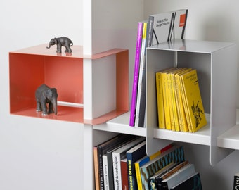 Shelf element, ele. Box, office shelf, table accessories, helpers, cleverly stowed away