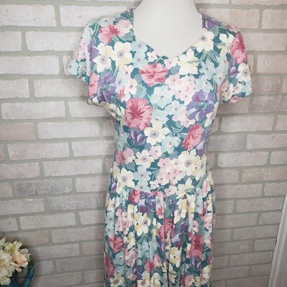 Vintage Lanz Floral Cotton Pocket Dress