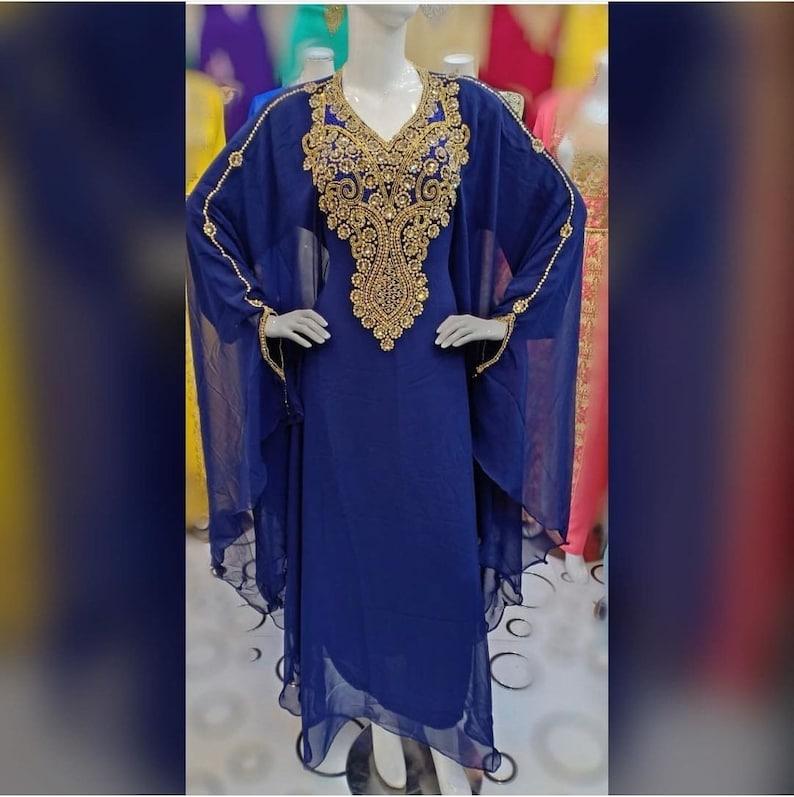 Sale ! Dubai Moroccan African Fashion Attire Bridesmaid Abaya Long Maxi Formal Beaded Party Werar Kaftan Abaya for Women /& Girls Dress