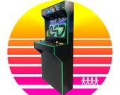 Arcade Cabinet / 4 Player / Basic Slim Design Full Size Retro Machine - Assembled