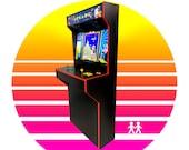 Arcade Machine 2 Player Cabinet / Basic Full Size Slim Design