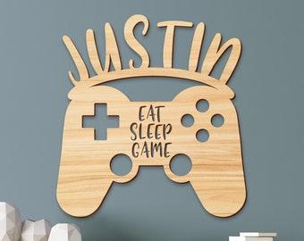 Personalized Gaming Room Sign  Bedroom Metal Art   Video Games Home Decor   Controller Metal Sign  Custom Metal Wall Art