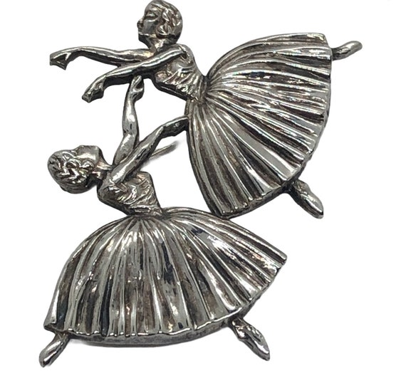 Silver Ballerina Brooch by Freddrick Messingham - image 1