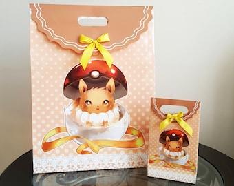 LARGE Pokemon Eevee Gift Bag / Paper Gift Bags / Anime Favor Bags