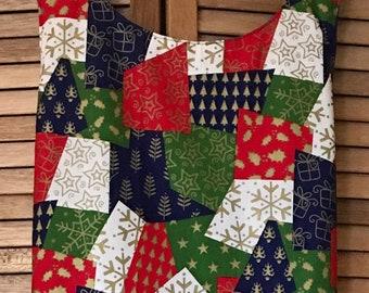 Large size Holiday Patchwork Reversible Japanese Apron