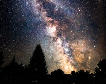 Milky Way Astrophotography Celestial Photograph  - Wall Decor on Paper, Canvas or Metal - Small to Large Sizes Available
