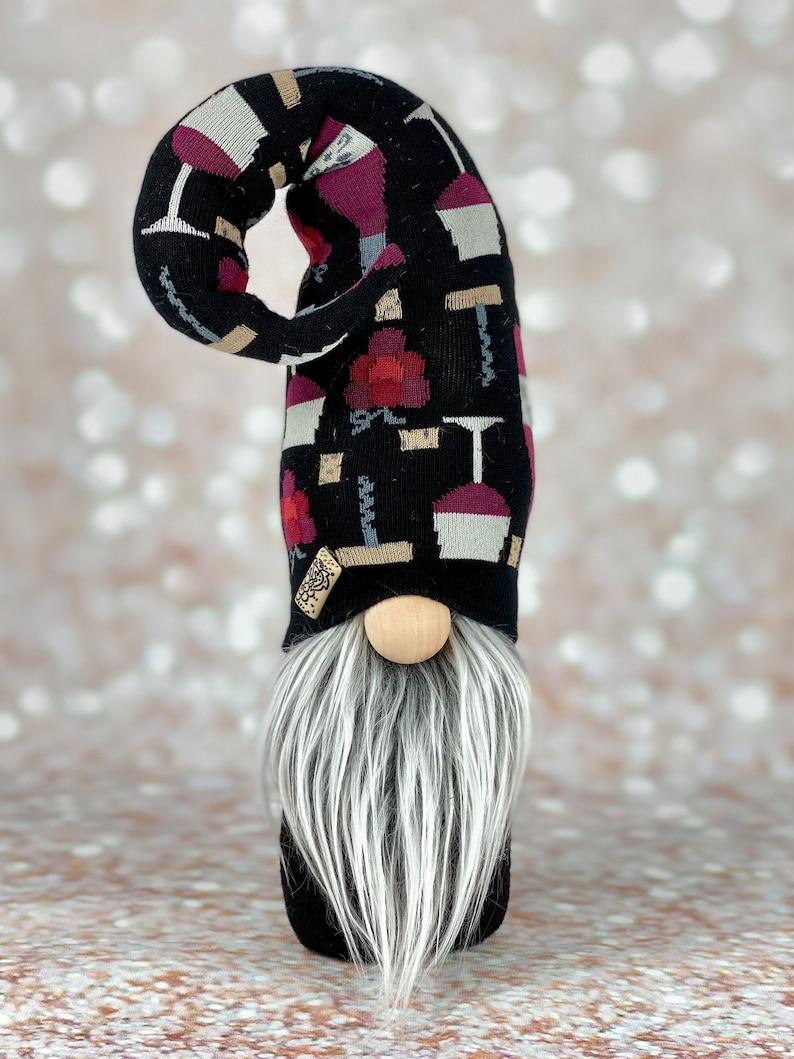 made in USA wine gifts wine bar decor handmade gnome gift for mom Wine gnome wine lovers gnome wine decor