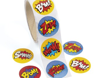 super hero colour sticker /& stamp set xmas party birthday stocking fillers