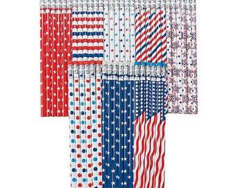 Primitive Patriotic Red White /& Blue Star Americana Shower Curtain Hooks 12 pk