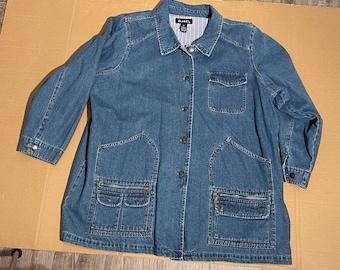 Vintage/New with Tag Denim & Co Jean/Denim Blue Woman Jacket size 2X
