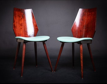 Pair of 50's baumann chairs restored and revisited