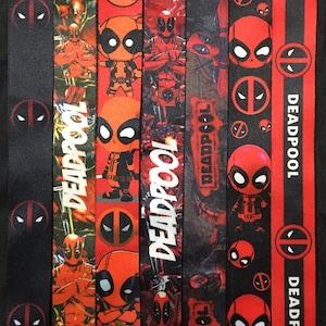Comic Book Inspired Deadpool Dangle Earrings New Mutants Marvel Mercenary Wade Winston Wilson Double-Sided