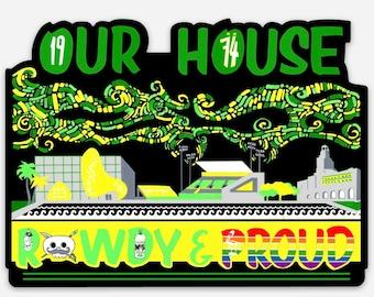 Rowdy and Proud Tampa Bay Rowdies Fan Art Mini-TIFO Sticker