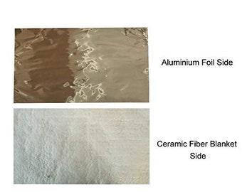 1//2 Aluminium Foil Faced Ceramic Fiber Blanket Insulation 6# 2300F 24 X 6.20