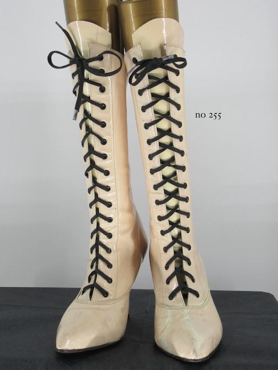 ladies patent 1980's/90's boots