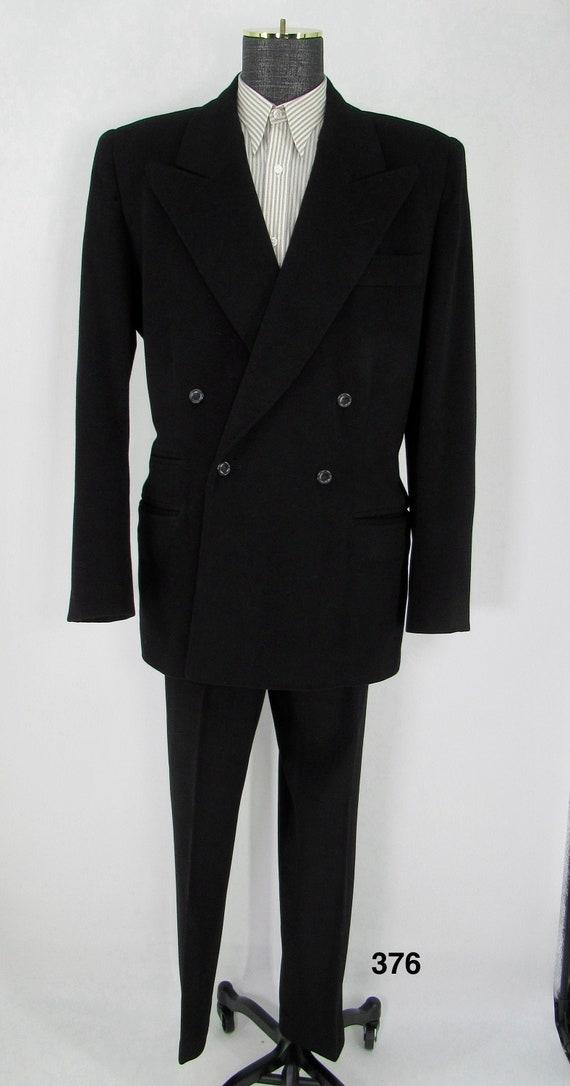 Vintage mens black suit 2 piece