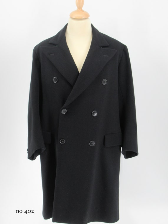 1930's  mens wool double breasted wool overcoat
