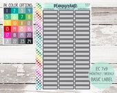 CLR-3 || CUSTOM COLOR Basic Label Planner Stickers (S-982) photo
