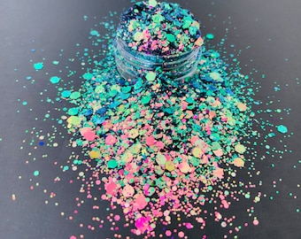 Galaxy chameleon  Chunky glitter ,  colour shift glitter , resin supplies , nail art glitter , craft supplies ,