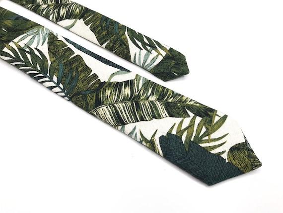 3 inches Hawaiian Wedding Necktie Beach Palm Tree Necktie 2.36 inches Floral Tropical Tie Hawaii Wedding 3.25 Green Tropical NeckTIE