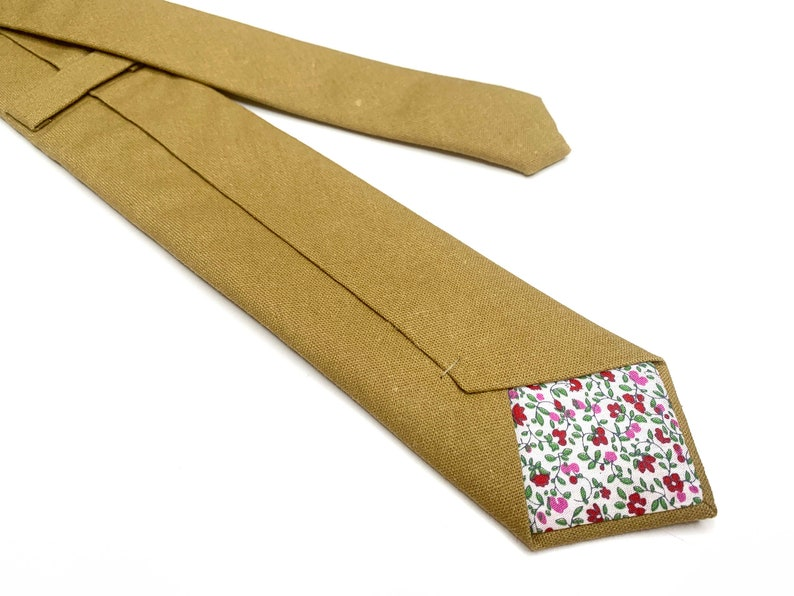 Floral Wedding neckties Floral TIES Yellow 3 inches 3,25 Mustard floral  skinny 2.36 inches