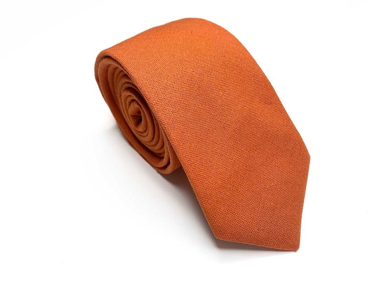 Kids Bow tie davids bridal tie Rust Necktie Burnt Orange Bow Tie Pocket Square Pocket Square Bow tie
