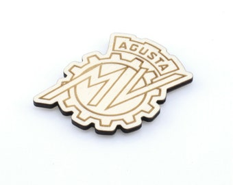 Handmade Laser Cut Wood Gift Triumph Car Badge Fridge Magnet