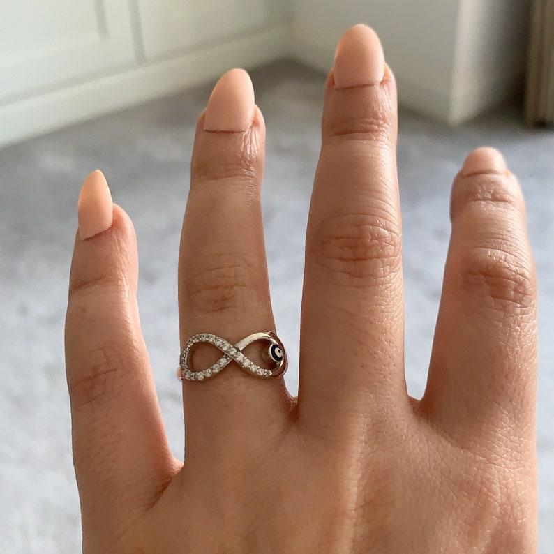 Sterling Silver Micro Pave Infinity Ring \u2022 Sterling Silver 925 \u2022 Infinity Ring \u2022 Friendship Ring \u2022 Ladies Gifts \u2022 Mothers Day Gift \u2022