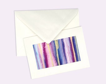 """Watercolour folding card """"Sommerliebe"""" in A6 with matching envelope handmade unique piece"""