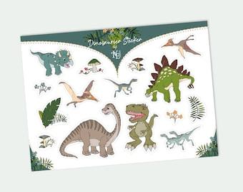 Dinosaur Sticker Sticker Gift Back to School Sticker Sheet 15 Sticker Dinos with T-Rex