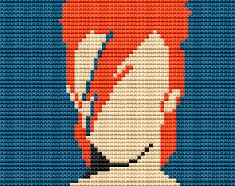 Cross Stitch Modern Cross Stitch Pattern PDF Instant Download Bowie Stitch Bowie Cross Stitch