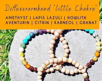 Chakra Bracelet, Aromatherapy Bracelet with Gemstones and Rosewood wood for Essential Oils, Diffuser/Diffuser Bracelet, Women Gift Ideas