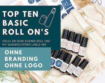 Template / Label für ätherische Öle - Basic - Roll-Ons - Rollerlabel - ohne Branding