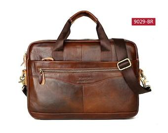 her gift Black Genuine Leather Women Handbag Business Briefcase Bag Women/'s 14 Inch Laptop Bags Female Cow Leather Diamond Lattice Bag