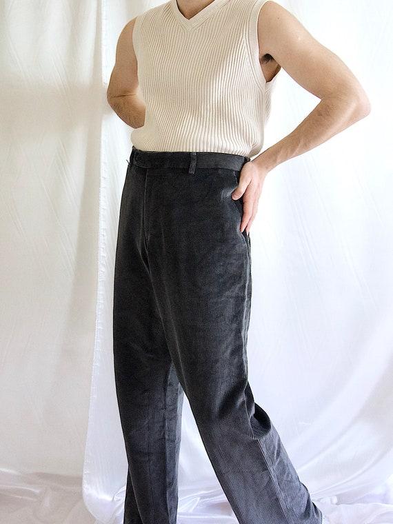 Pierre Cardin Cord Trousers Pleated Corduroy Trous