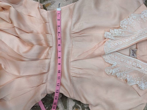 Vintage 1930s 1940s or 1950s blush Pink peach sil… - image 8