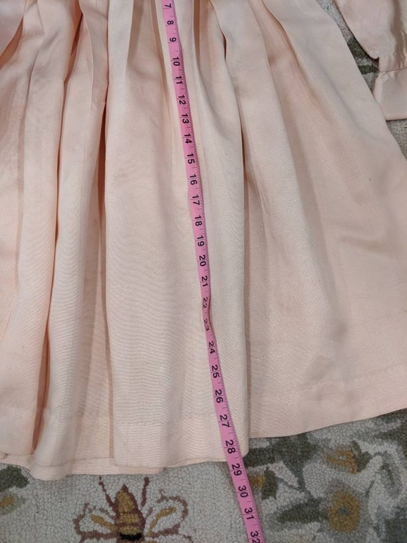 Vintage 1930s 1940s or 1950s blush Pink peach sil… - image 10