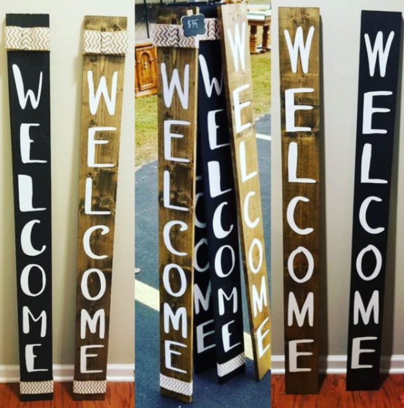 Welcome Sign  Outdoor Sign  Farmhouse Sign  Front porch sign