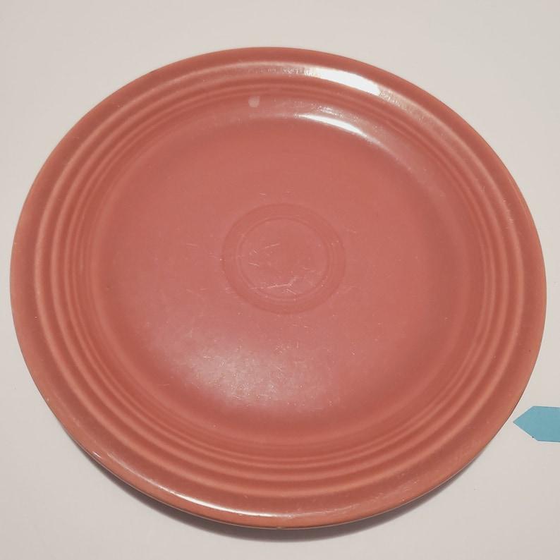 Vintage 7 Rose Glaze Fiesta Salad Plate 1950s