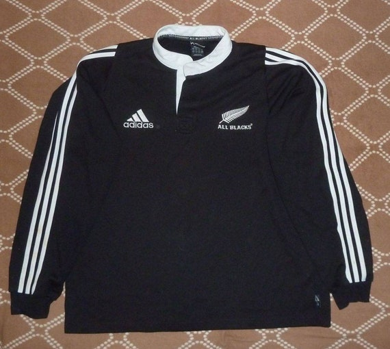 Jersey New Zealand All Blacks Rugby 2003 home Adidas Vintage | Etsy