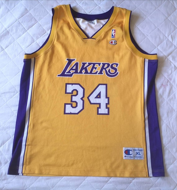 Authentic jersey Shaquille O'Neal Los Angeles Lake